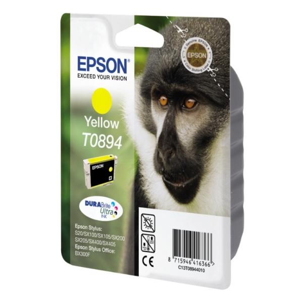 Original Epson C13T08944021 / T0894 Cartouche d'encre jaune