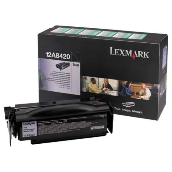 Original Lexmark 12A8420 Toner schwarz