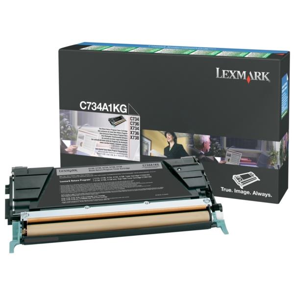 Original Lexmark C734A1KG Toner schwarz