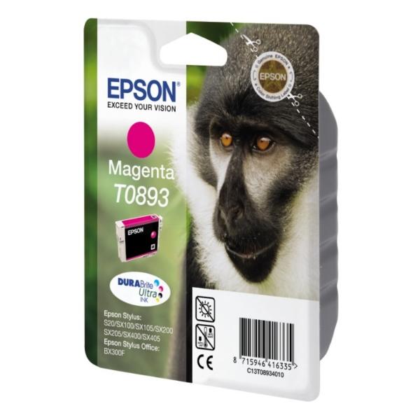 Original Epson C13T08934021 / T0893 Cartouche d'encre magenta