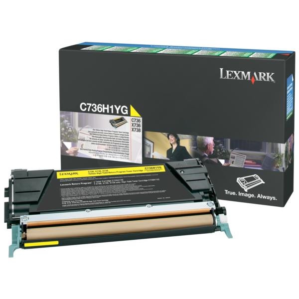 Original Lexmark C736H1YG Toner gelb