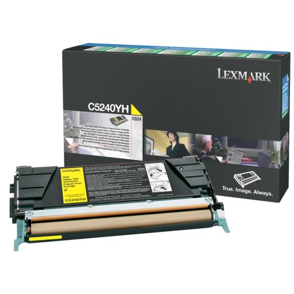 Original Lexmark C5240YH Toner gelb