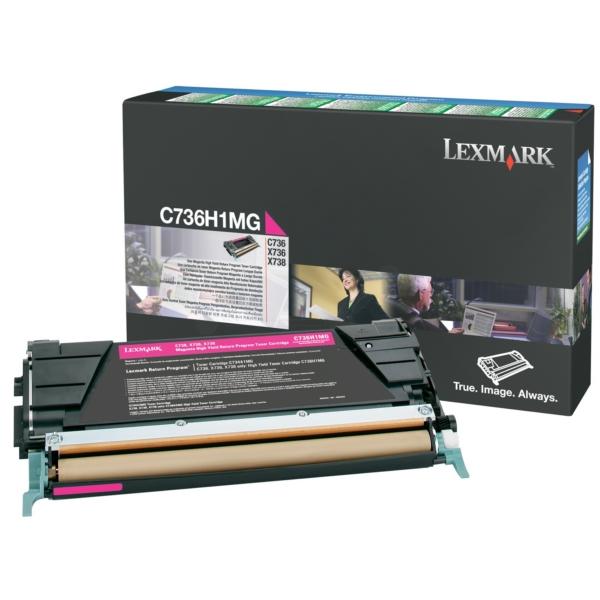 Original Lexmark C736H1MG Toner magenta