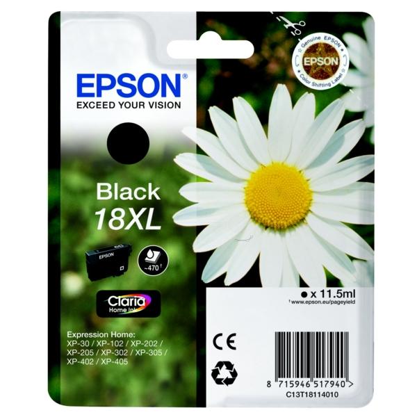 Original Epson C13T18114020 / 18XL Cartouche d'encre noire