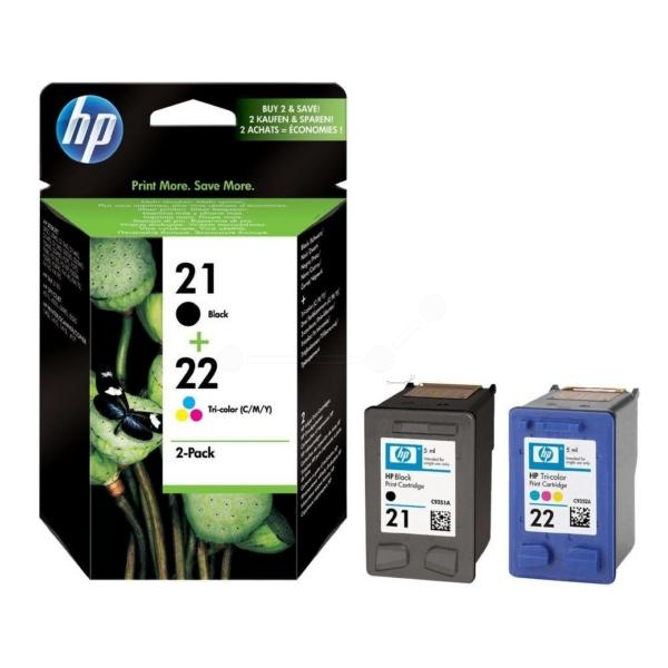 Original HP SD367AE#301 / 21+22 Cartouche à tête d'impression multi pack