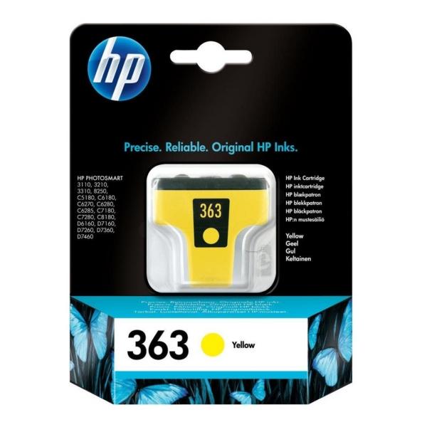 Originale HP C8773EE#301 / 363 Cartuccia di inchiostro giallo