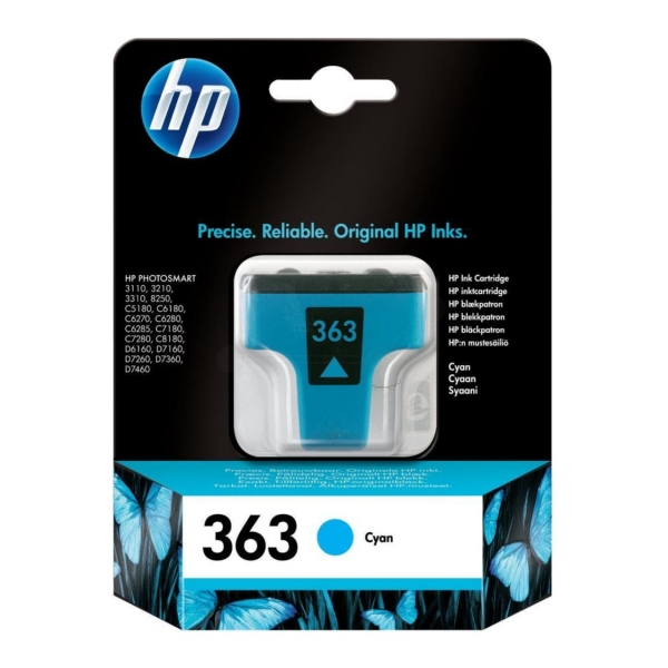 Originale HP C8771EE#301 / 363 Cartuccia di inchiostro ciano