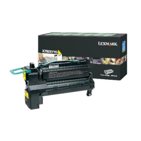 Original Lexmark X792X1YG Toner gelb