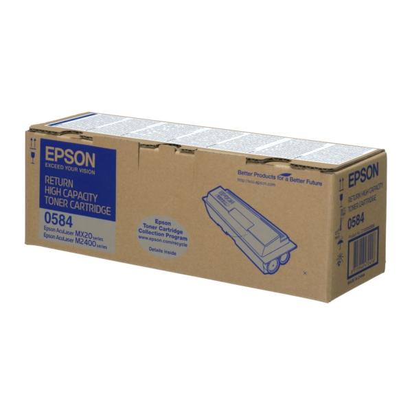 Original Epson C13S050584 / 0584 Toner schwarz