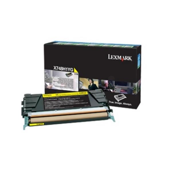 Original Lexmark X748H1YG Toner gelb