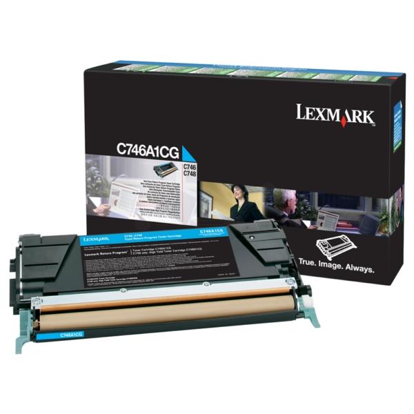 Original Lexmark C746A1CG Toner cyan