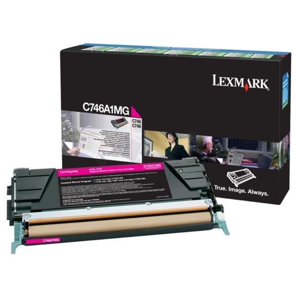 Original Lexmark C746A1MG Toner magenta