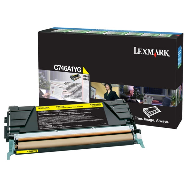 Original Lexmark C746A1YG Toner gelb