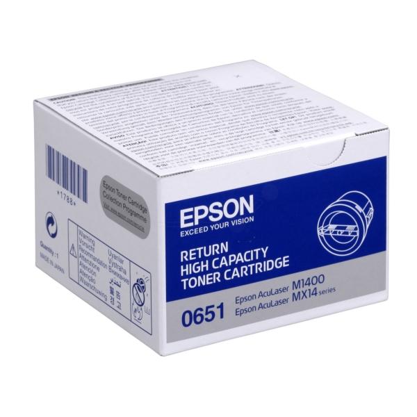 Original Epson C13S050651 / 0651 Toner schwarz