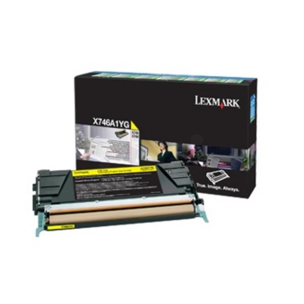 Original Lexmark X746A1YG Toner gelb