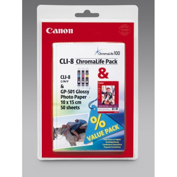 Original Canon 0621B030 / CLI8GP501 Cartouche d'encre multi pack