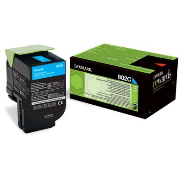 Original Lexmark 80C20C0 / 802C Toner cyan