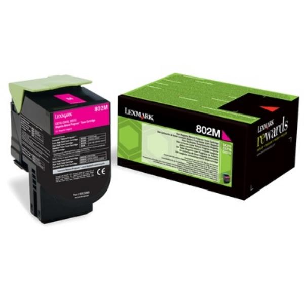 Original Lexmark 80C20M0 / 802M Toner magenta