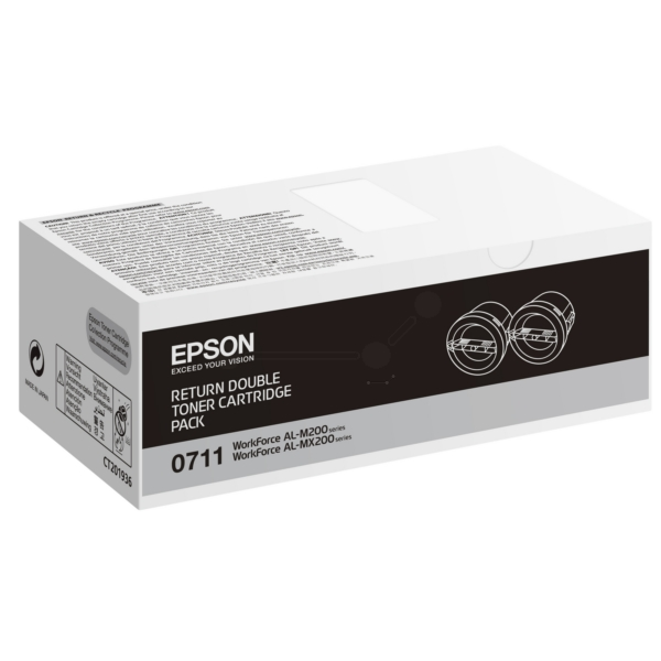 Original Epson C13S050711 / 0710 Toner schwarz