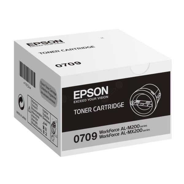 Original Epson C13S050709 / 0709 Toner schwarz
