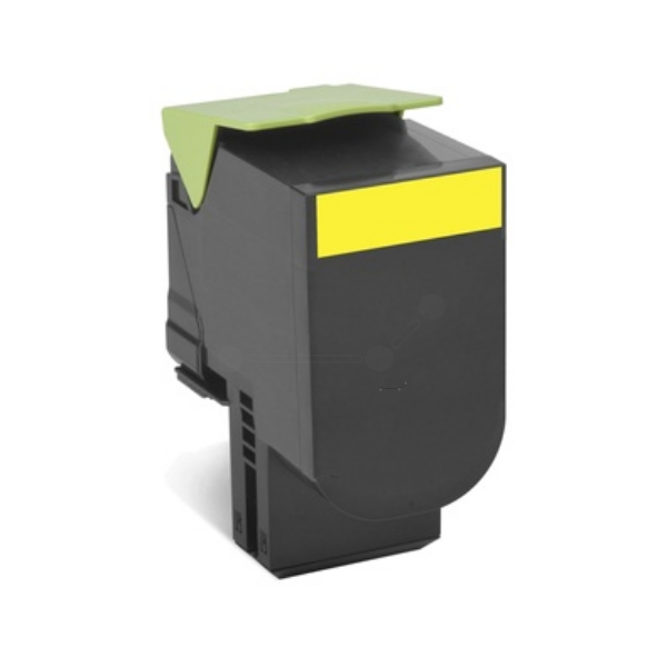 Original Lexmark 80C2HY0 / 802HY Toner gelb