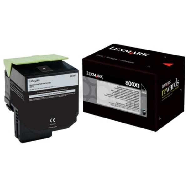 Original Lexmark 80C0X10 / 800X1 Toner noir