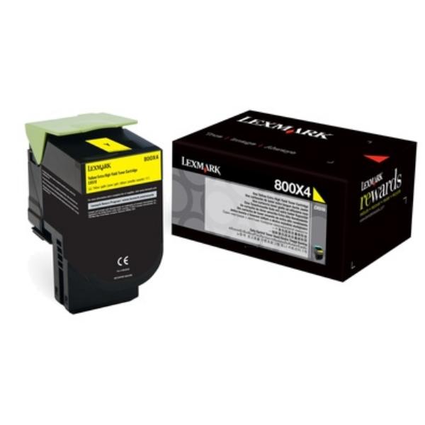 Original Lexmark 80C0X40 / 800X4 Toner gelb