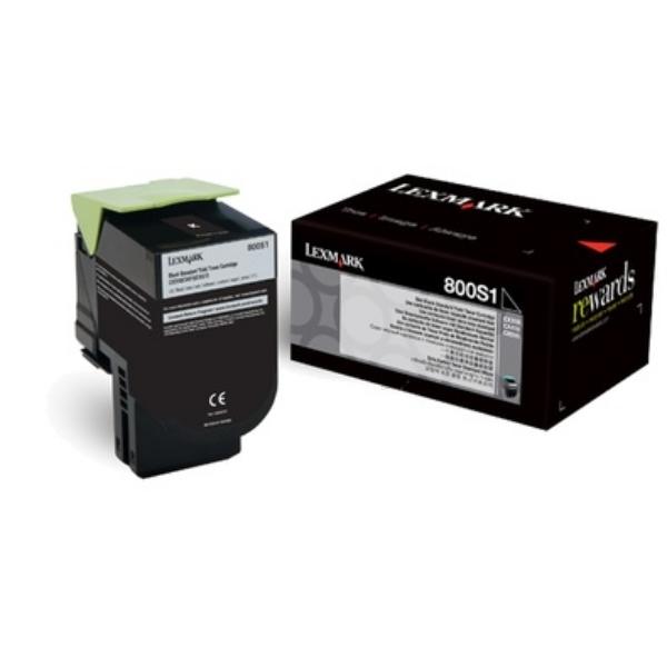 Original Lexmark 80C0S10 / 800S1 Toner noir