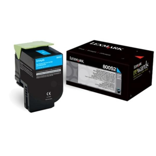Original Lexmark 80C0S20 / 800S2 Toner cyan