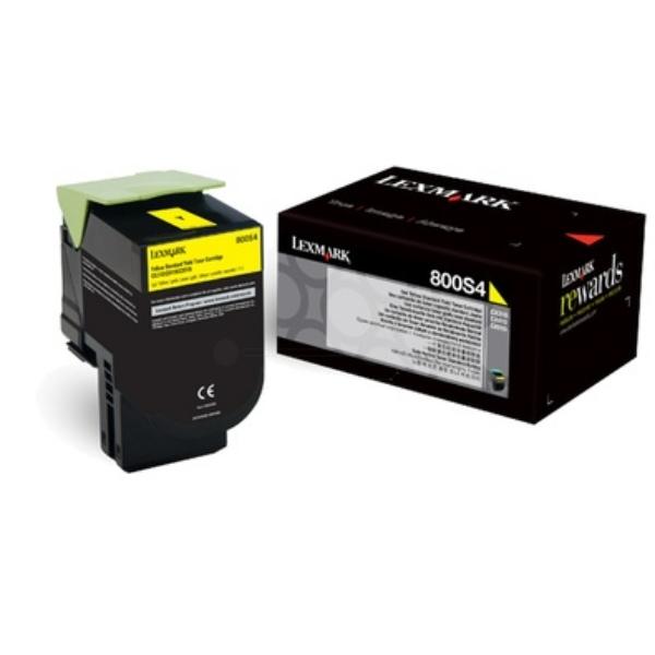 Original Lexmark 80C0S40 / 800S4 Toner gelb