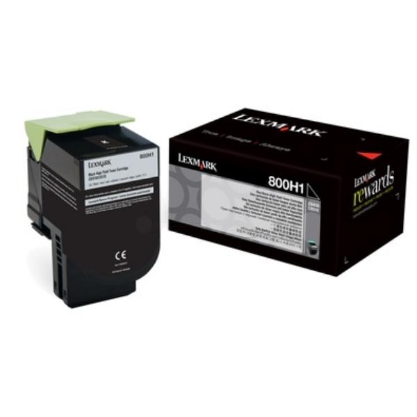 Original Lexmark 80C0H10 / 800H1 Toner schwarz