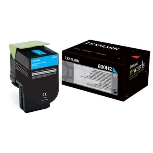 Original Lexmark 80C0H20 / 800H2 Toner cyan