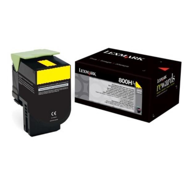 Original Lexmark 80C0H40 / 800H4 Toner gelb