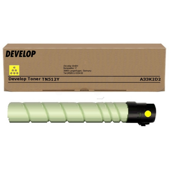 Original Develop A33K2D2 / TN512Y Toner gelb