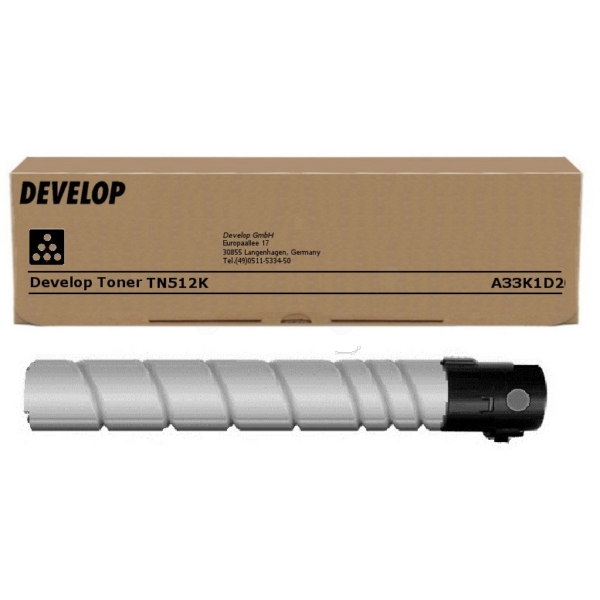 Original Develop A33K1D2 / TN512K Toner schwarz