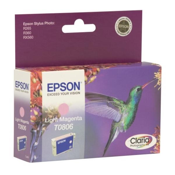 Original Epson C13T08064021 / T0806 Tintenpatrone magenta hell