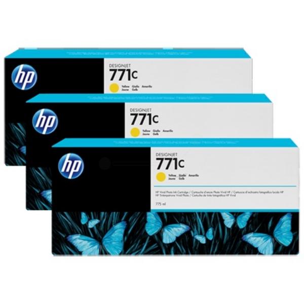 Original HP B6Y34A / 771C Tintenpatrone gelb