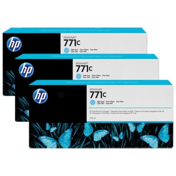 Original HP B6Y36A / 771C Tintenpatrone cyan hell
