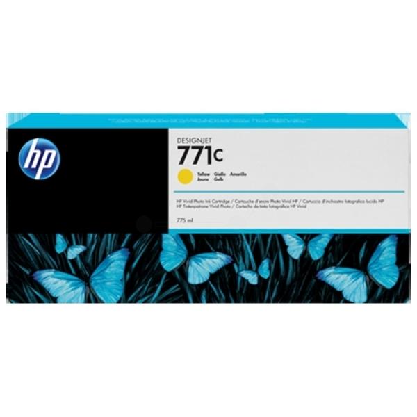 Original HP B6Y10A / 771C Tintenpatrone gelb