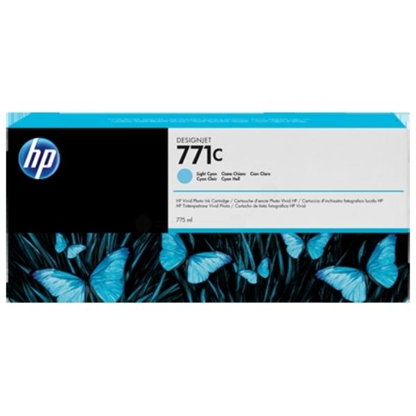 Original HP B6Y12A / 771C Tintenpatrone cyan hell