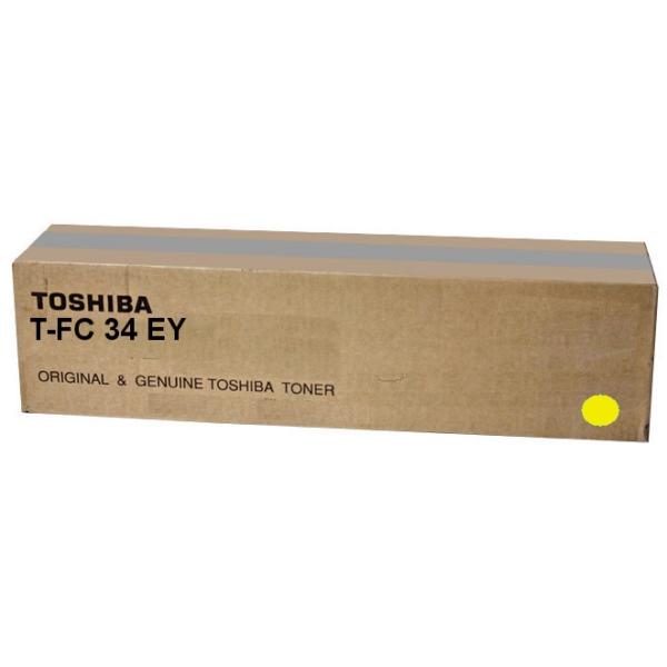 Original Toshiba 6A000001525 / TFC34EY Toner gelb