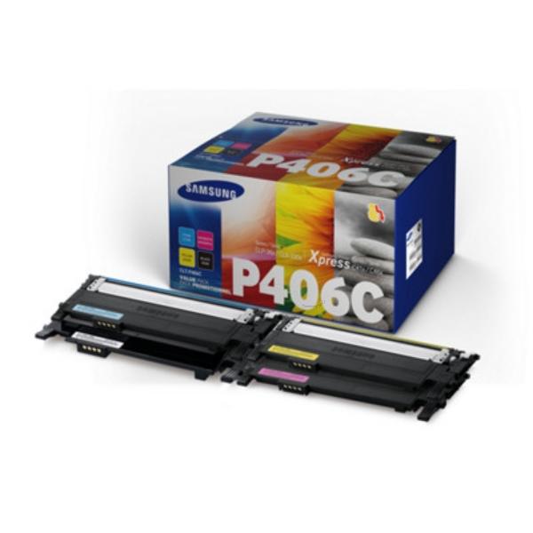 Original Samsung CLTP406CELS / C406 Toner MultiPack