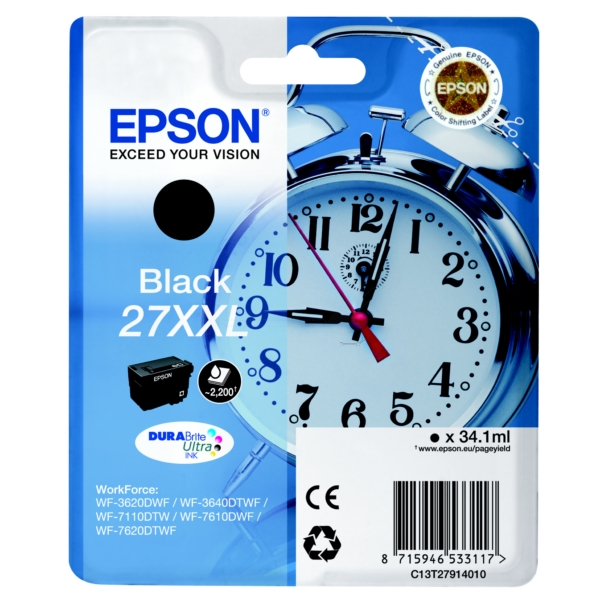 Original Epson C13T27914010 / 27XXL Ink cartridge black