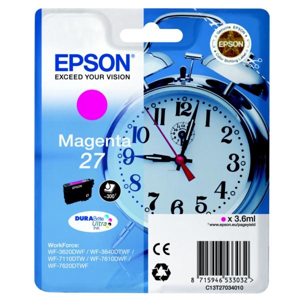 Original Epson C13T27034010 / 27 Tintenpatrone magenta