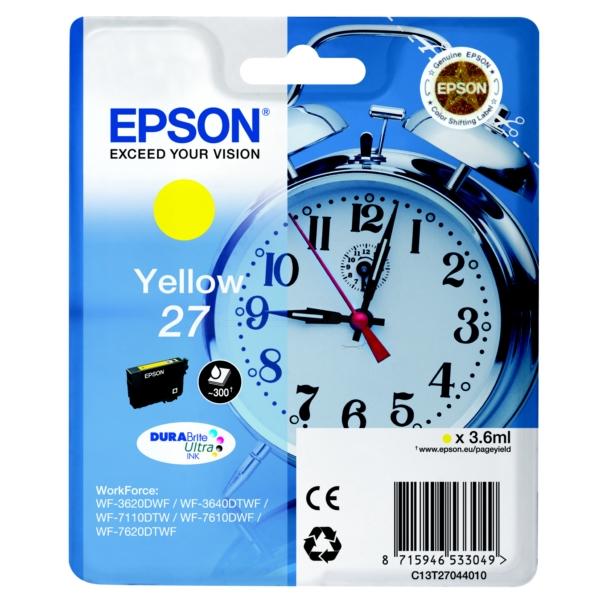 Original Epson C13T27044010 / 27 Tintenpatrone gelb