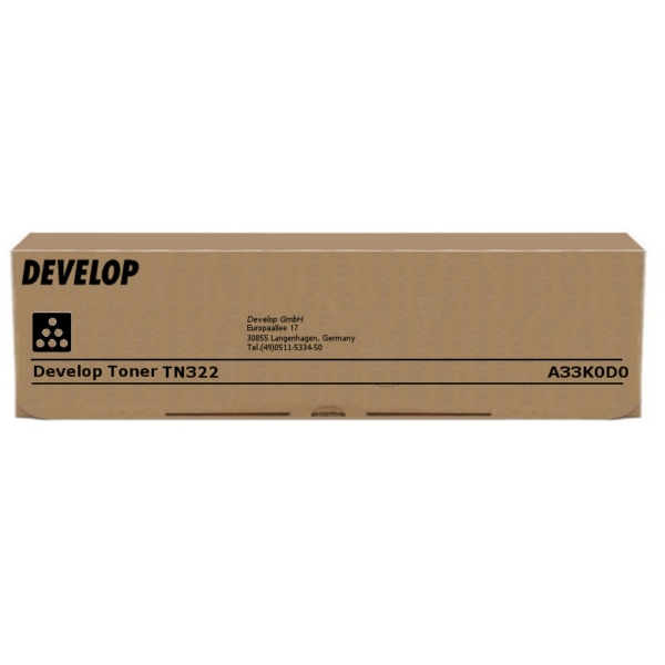 Original Develop A33K0D0 / TN322 Toner schwarz