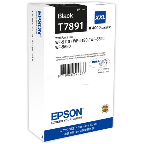 Original Epson C13T789140 / T7891XXL Tintenpatrone schwarz
