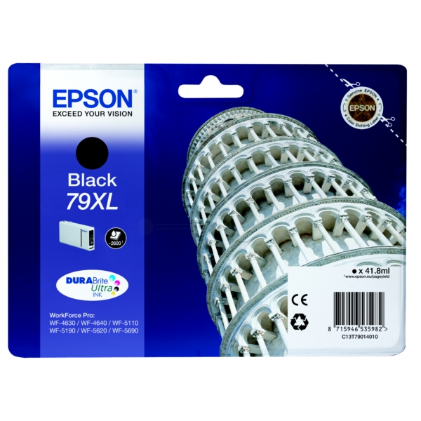 Original Epson C13T79014010 / 79XL Tintenpatrone schwarz