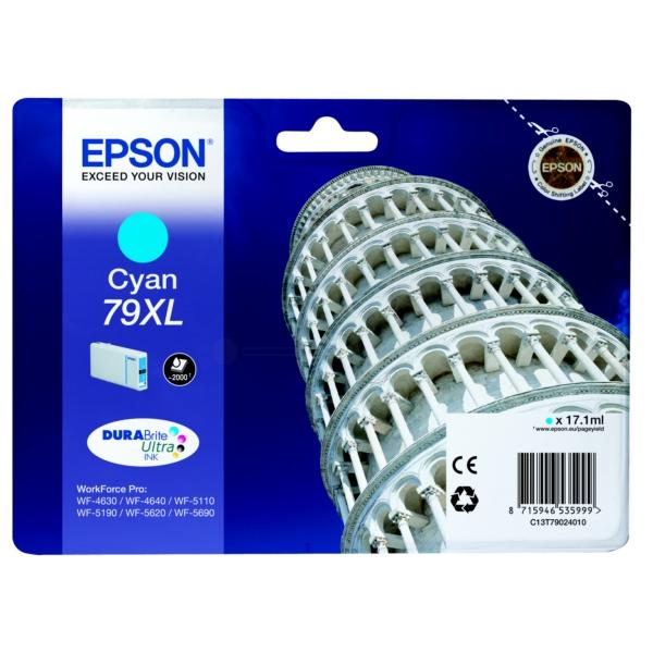 Original Epson C13T79024010 / 79XL Tintenpatrone cyan