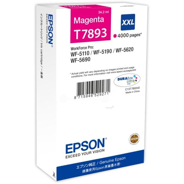 Original Epson C13T789340 / T7893 Tintenpatrone magenta